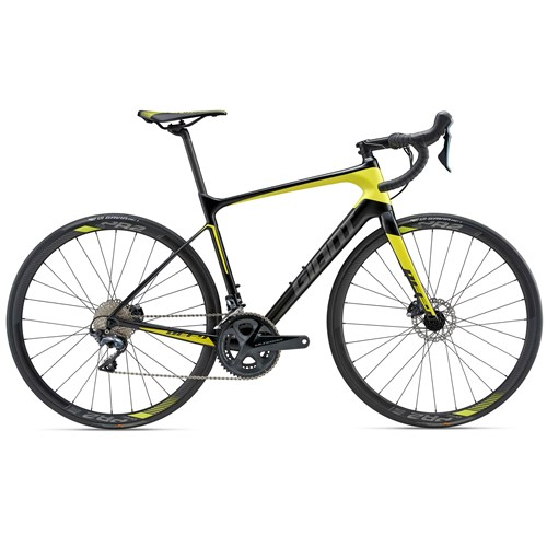 2018 Giant Defy Advanced 1 Endurance Bike In Black/Yellow