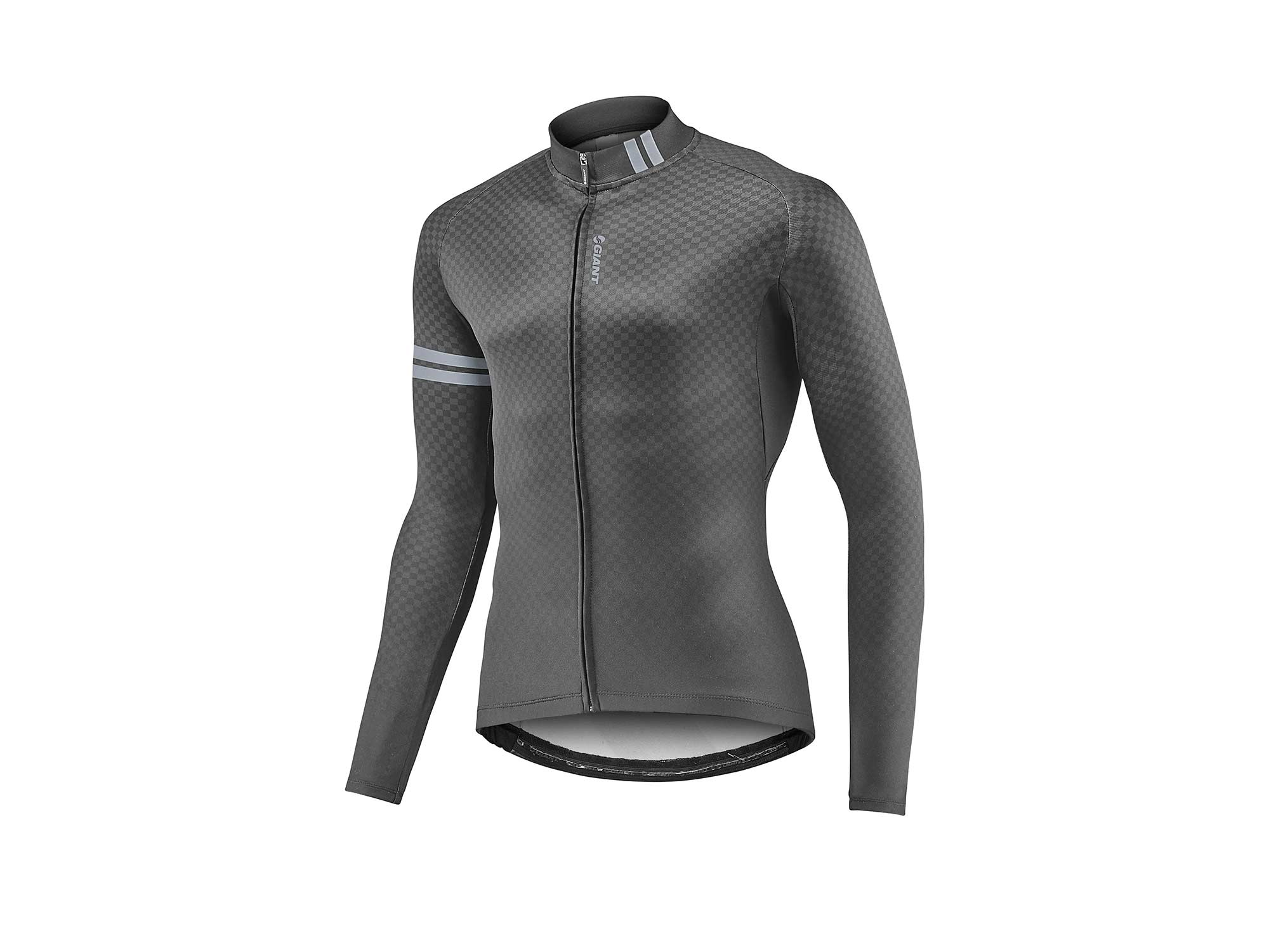 2019 Giant Podium Long Sleeved Mid-Thermal Jersey in Black Gray 4ba3775ef