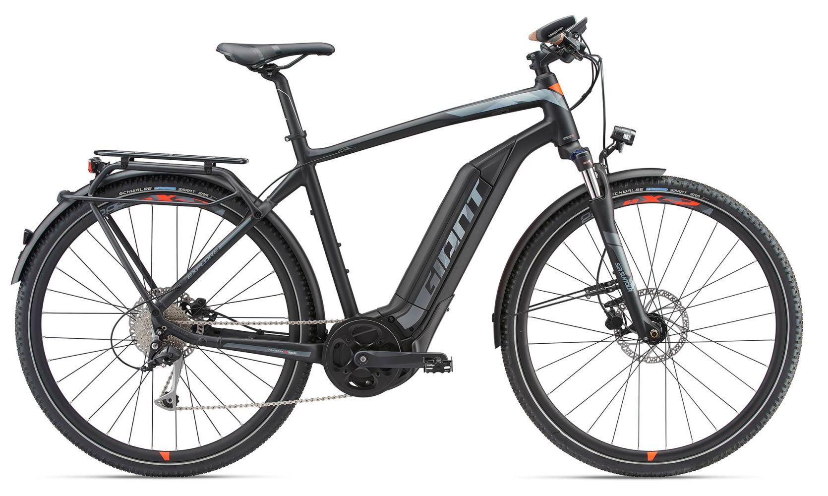 8ccc3508e8765a 2018 Giant Explore E+ 2 S5 GTS 25km Mens Electric Hybrid bike in Black